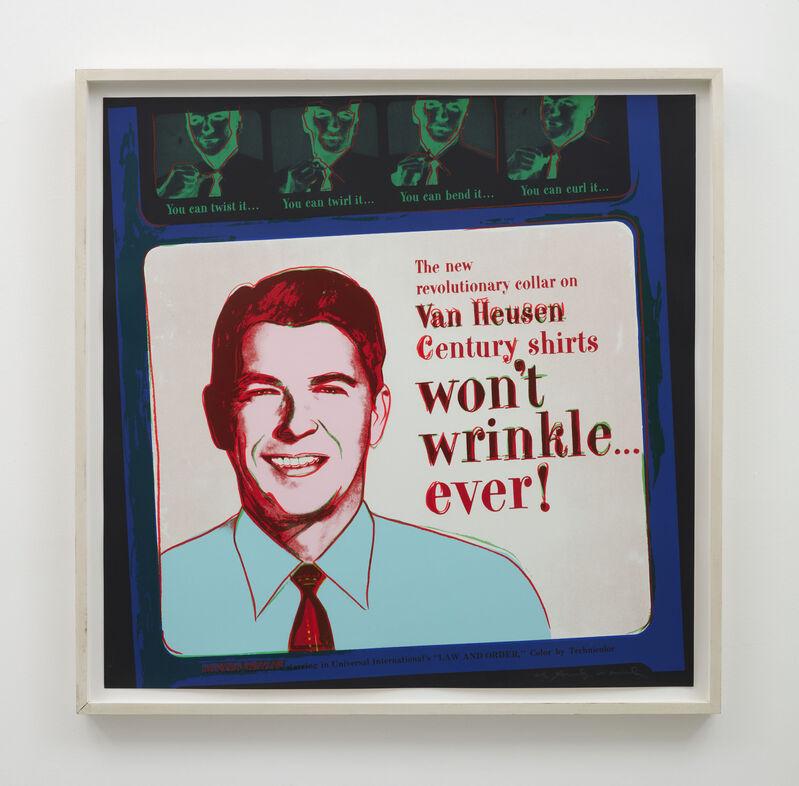 Andy Warhol, 'Van Heusen (Ronald Reagan)', 1985, Print, Screenprint and colophon on Lenox Museum Board, IKON Ltd. Contemporary Art