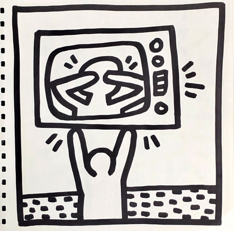 Keith Haring, 'Keith Haring (untitled) Best Buddies Lithograph 1982', 1982, Print, Offset lithograph, Lot 180