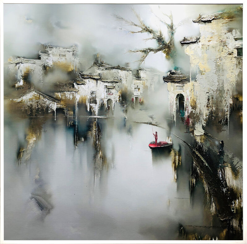Gao Xiao Yun 高小云, 'Dialogue in Late Autumn 墨语深秋', 2021, Painting, Oil on canvas, Art WeMe Contemporary Gallery
