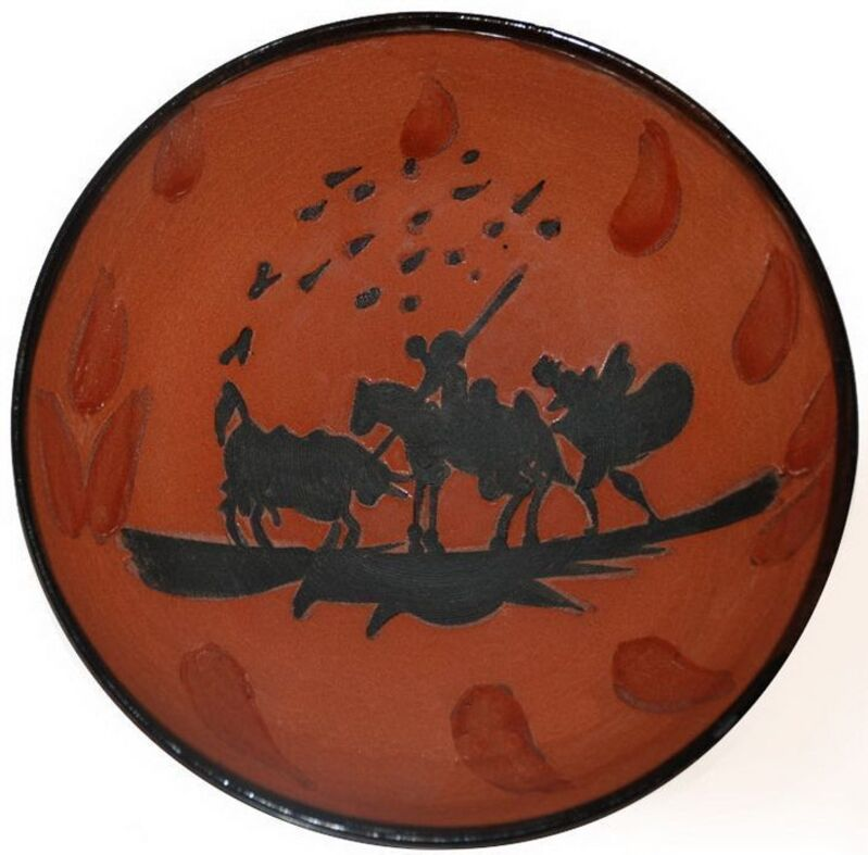 Pablo Picasso, 'Picador (A.R.211)', 1953, Design/Decorative Art, Turned cup in red earthenware, black decor with engobe, enamel, parraffin and glaze, HELENE BAILLY GALLERY