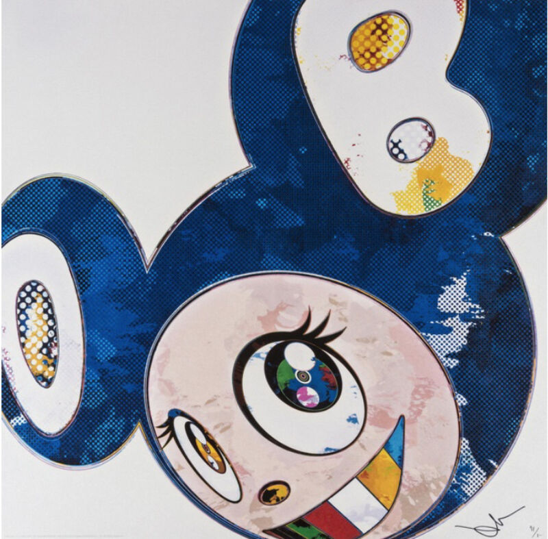 Takashi Murakami, 'AND THEN x6 (LAPIZ LAZULI THE SUPERFLAT METHOD)', 2003, Print, Offset lithograph with silver on smooth paper, Marcel Katz Art