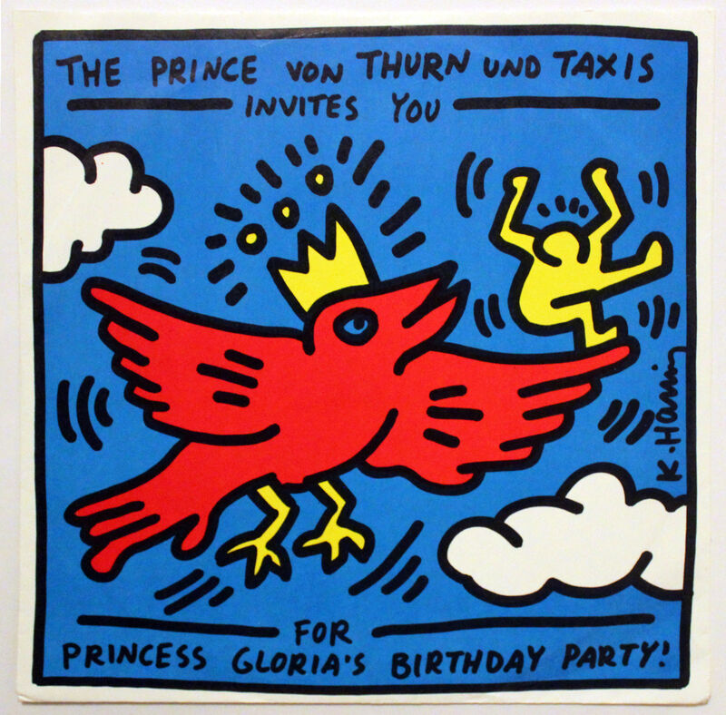Keith Haring, 'The Prince von Thurn und Taxis Invitation', 1989, Print, Vinyl record and cover, EHC Fine Art Gallery Auction