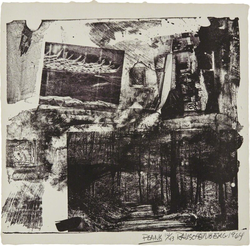 Robert Rauschenberg, 'Plank, from XXXIV Drawings for Dante's Inferno', 1964, Print, Lithograph, on Angoumois à la main paper, the full sheet, Phillips