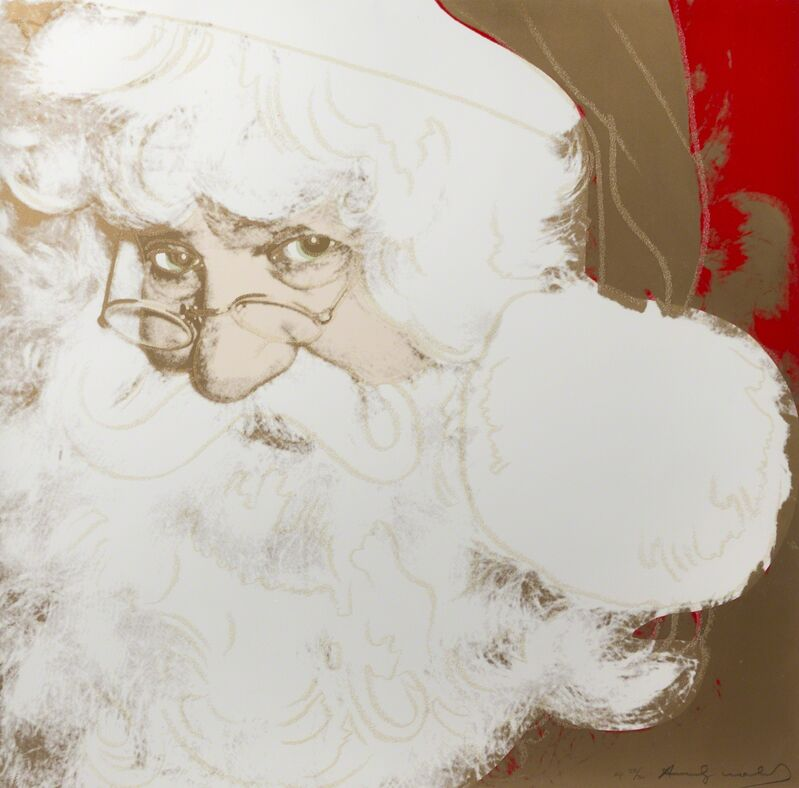 Andy Warhol, 'Santa Claus (F. & S. II. 266)', 1981, Mixed Media, Synthetic polymer paint and silkscreen ink with diamond dust on canvas, Julien's Auctions