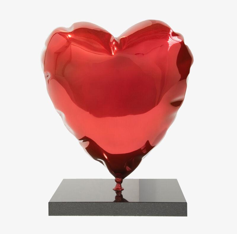 Mr. Brainwash, 'Heart Balloon Sculpture', ca. 2019, Sculpture, Polished bronze on granite base, Tanya Baxter Contemporary