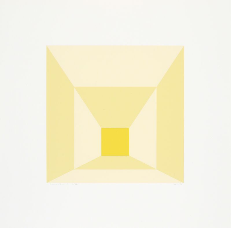 Josef Albers, 'Mitred Squares', 1976, Print, Portfolio of twelve screenprints on Arches 88 rag mould-made paper, Cristea Roberts Gallery