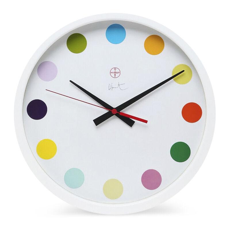 Damien Hirst, 'Spot Clock Large', 2009, Design/Decorative Art, White powdered metal quartz wall clock, Tate Ward Auctions