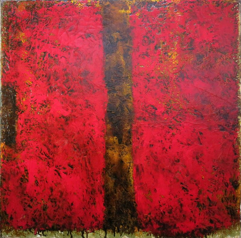 Jean McEwen, 'Blason du chevalier rouge', 1962, Painting, Oil on canvas, Galerie Claude Lafitte