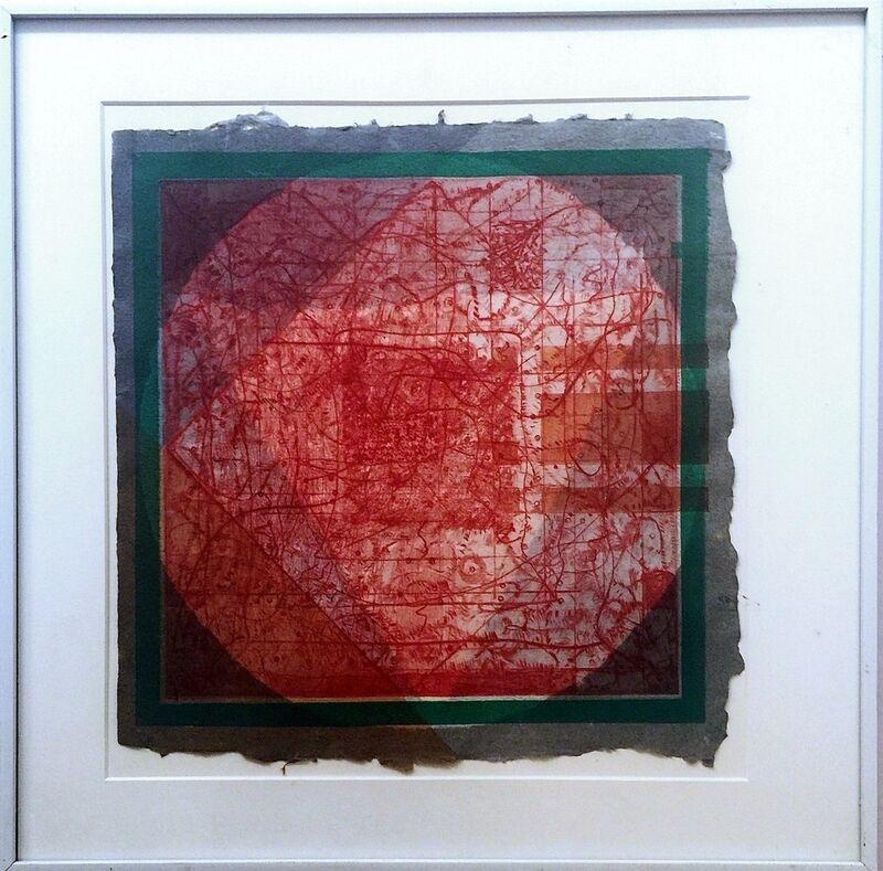 Alan Shields, 'Peace of the Rock', 1974, Print, Mixed Media Aquatint & Silkscreen., Alpha 137 Gallery