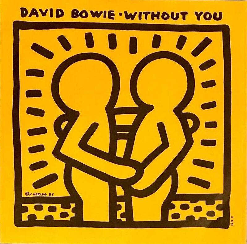 Keith Haring, 'Rare Original Keith Haring Vinyl Record Art (Haring David Bowie)', 1983, Print, Offset lithograph on vinyl record album sleeve, Lot 180
