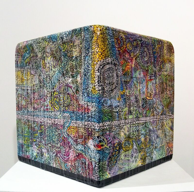 Ethan Meyer, 'Dreaming Awake at the End of Time', 2016, Sculpture, Acrylic paint and resin on wood, Duane Reed Gallery