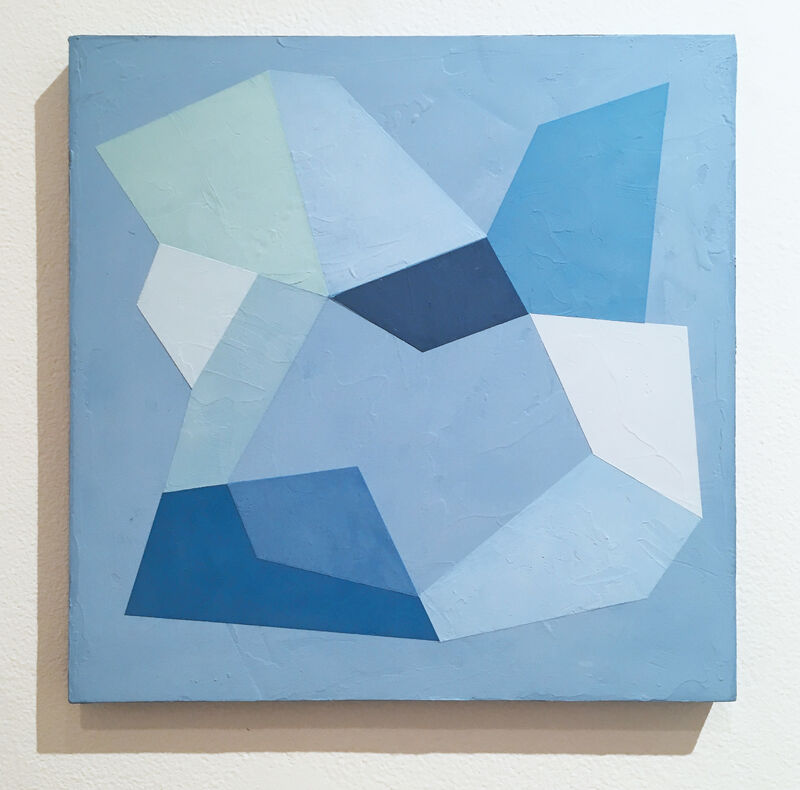 Kati Vilim, 'Blue Trace III', 2020, Painting, Plaster and acrylic on wood panel, Deep Space Gallery