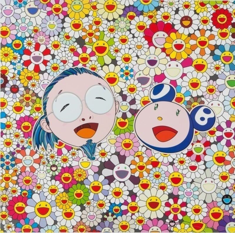 Takashi Murakami, 'Me and Mr DOB', 2010, Print, Offset lithograph with colours, on wove paper, Lougher Contemporary