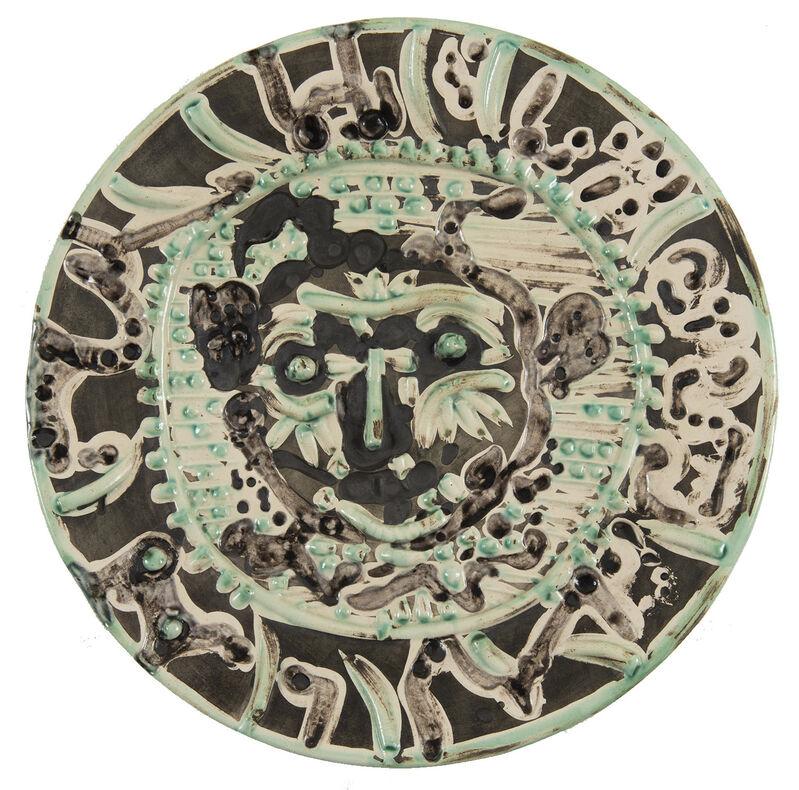 Pablo Picasso, 'Faune au visage tourmenté', 1956, Design/Decorative Art, Ceramic plate, HELENE BAILLY GALLERY