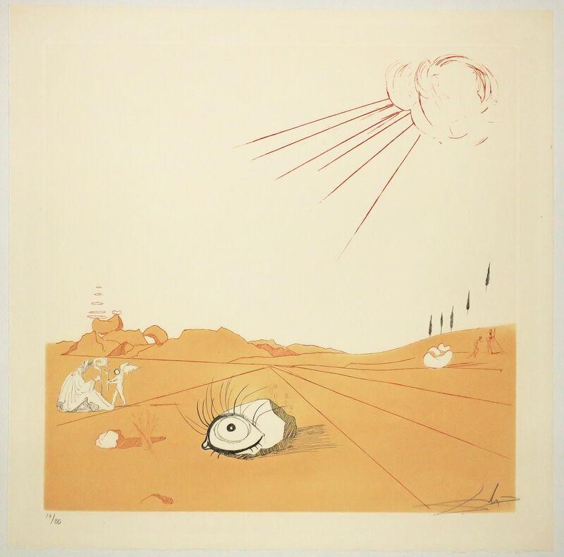 Salvador Dalí, 'Espace paysage. ', 1968-1980. , Print, Original etching and aquatint, printed in colors., Martinez D.