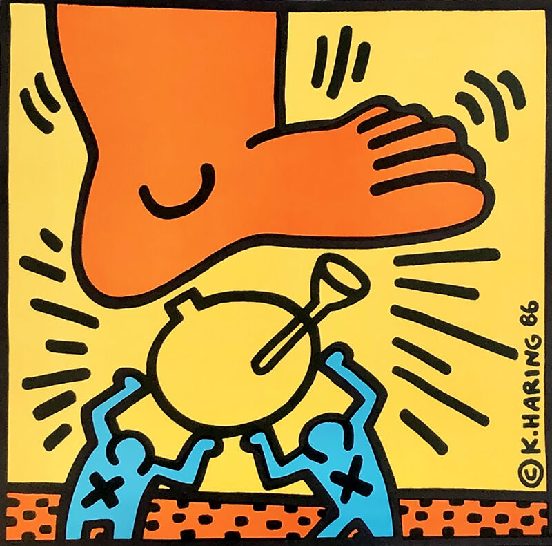 Keith Haring, 'Keith Haring Crack Down! ', 1986, Posters, Offset lithograph, Lot 180