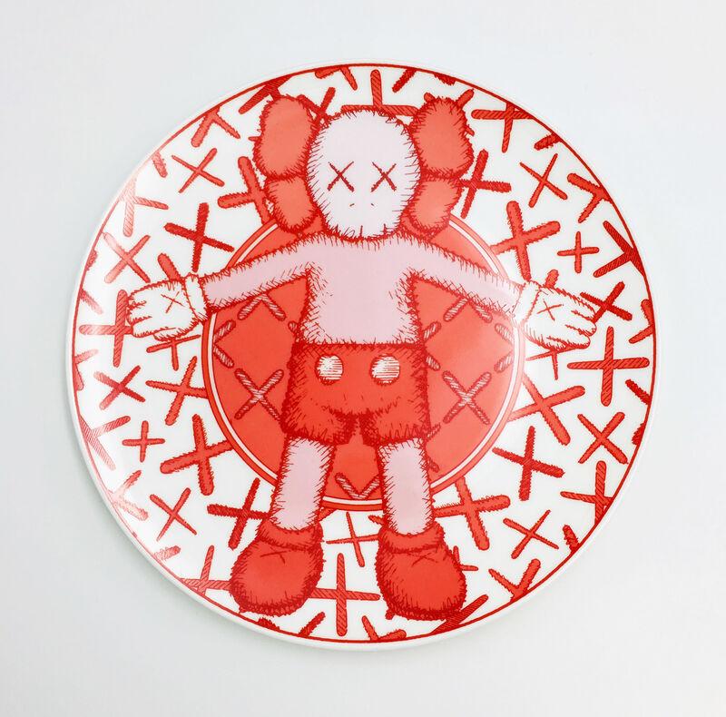 KAWS, 'Limited Ceramic Plate Set - Red (Set of 4)', 2019, Design/Decorative Art, Porcelain, Lougher Contemporary Gallery Auction
