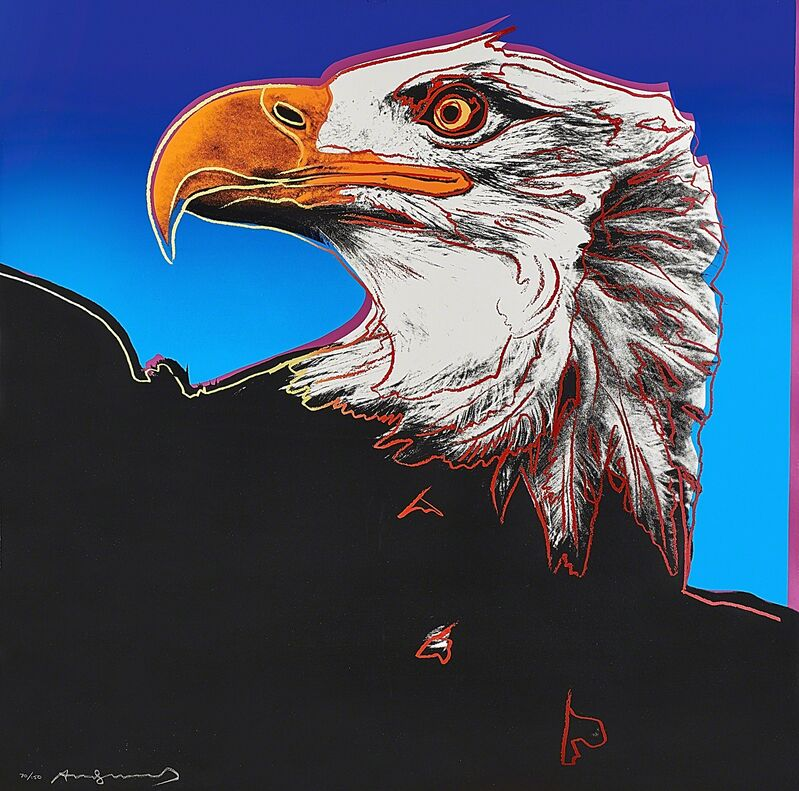 Andy Warhol, 'Bald Eagle from Endangered Species Portfolio', 1983, Print, Screenprint in colors on Lenox Museum Board (framed), Rago/Wright