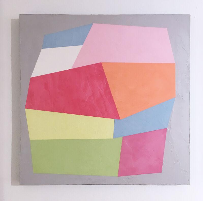 Kati Vilim, 'Dolce Vita II', 2019, Painting, Plaster and acrylic on wood panel, Deep Space Gallery