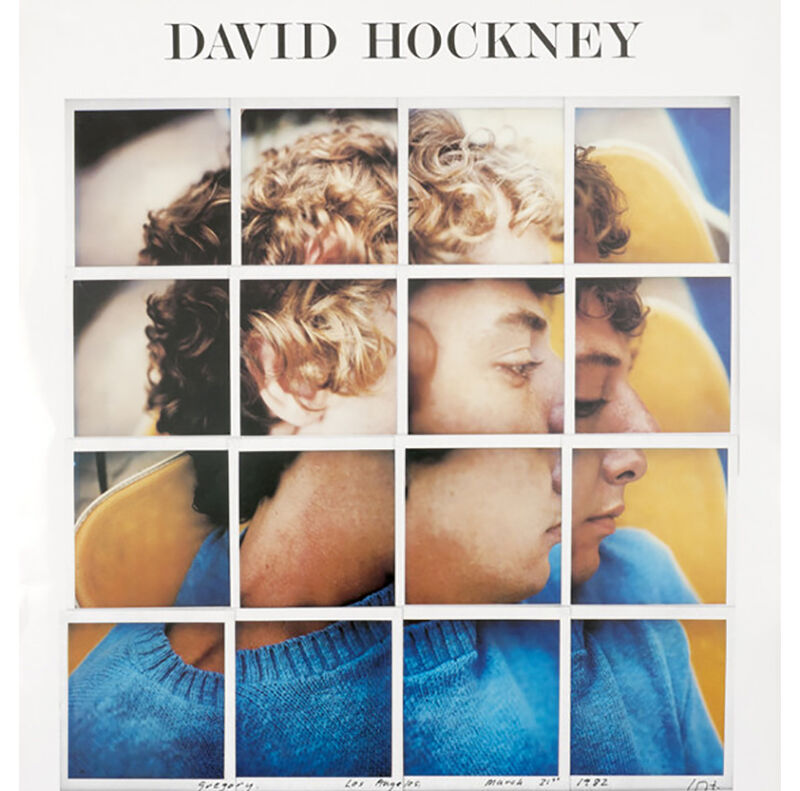 David Hockney, 'Andre Emmerich Gallery 1982 (Gregory, Los Angeles March 1982)', 1982, Posters, Offset lithograph, Petersburg Press