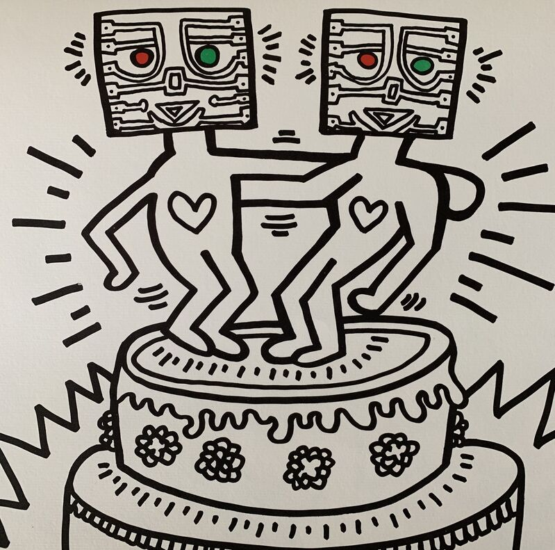 Keith Haring, 'The Winkie Wedding Poster', 1985, Ephemera or Merchandise, Offset lithograph, paper, Artificial Gallery