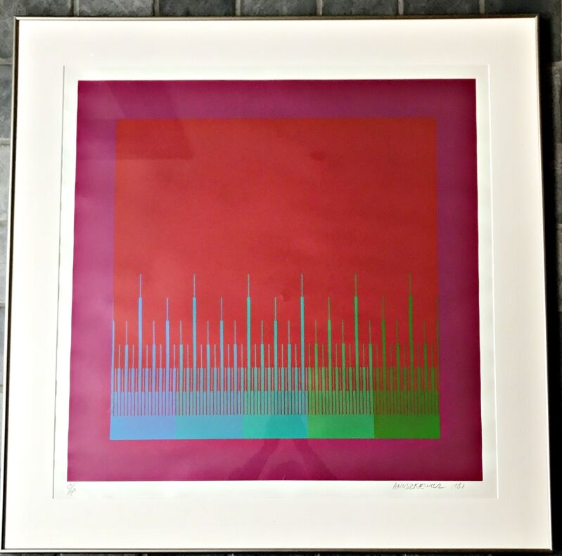 Richard Anuszkiewicz, 'Soft Satellite Red', 1981, Print, Silkscreen. Signed and numbered. Framed., Alpha 137 Gallery