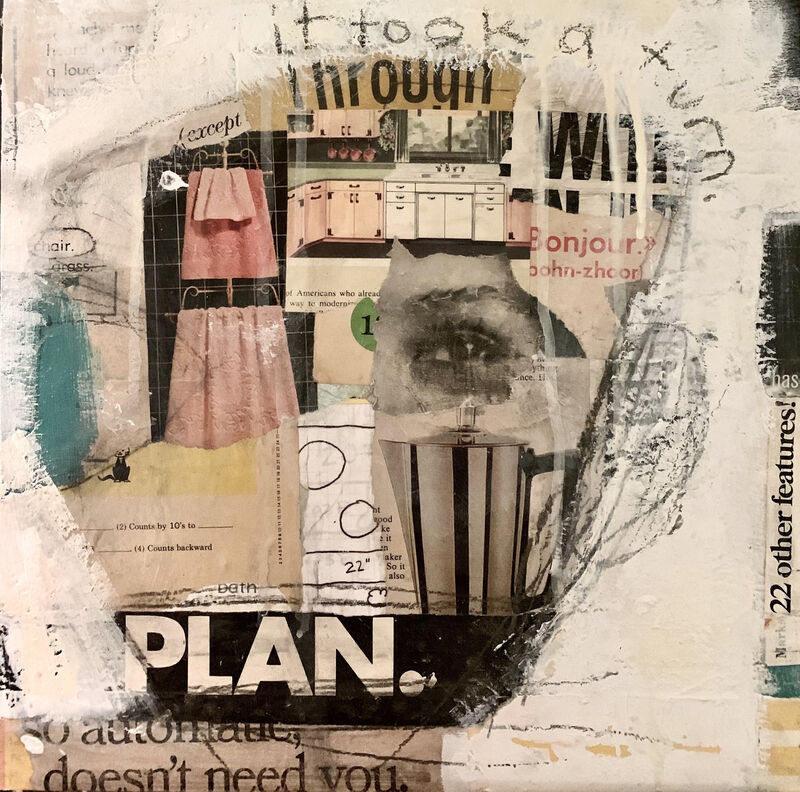 Casebeer, 'So Automatic It Doesn't Need You', 2021, Mixed Media, Collage and paint, McVarish Gallery