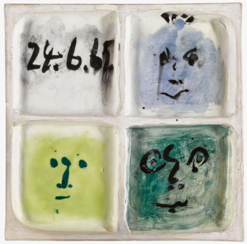 Pablo Picasso, 'Carreau Visage d'homme [Man face tile]', 1965, Design/Decorative Art, Ceramic Glazed Tile, BASTIAN