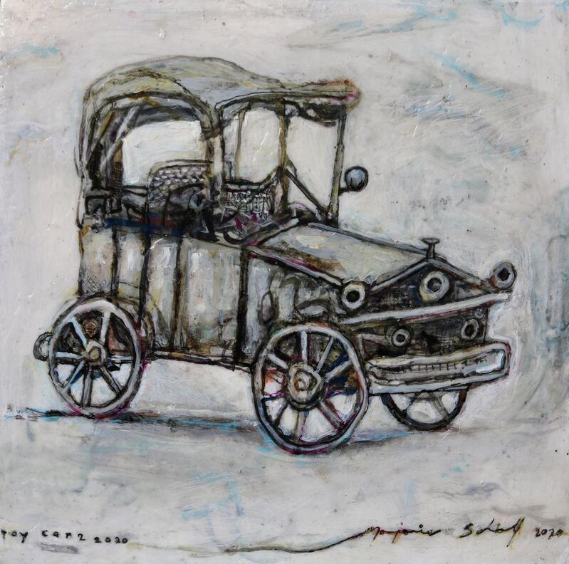 Marjorie Scholl, 'Toy Car 2', 2020, Painting, Acrylic on wood, McVarish Gallery