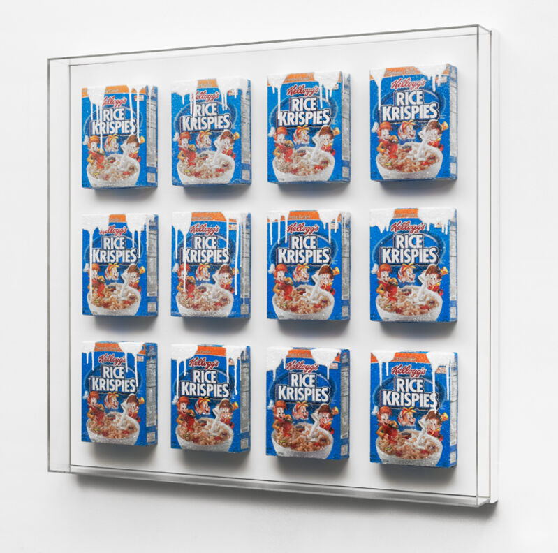 Rachel Lee Hovnanian, 'Snap, Crackle, Pop H', 2015, Sculpture, Cereal boxes, acrylic, crushed glass, wood, Leila Heller Gallery