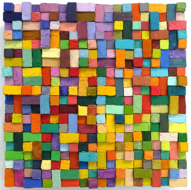 Carlos Estrada-Vega, 'Juana', 2015, Painting, Wax, limestone dust, oil, olepasto and pigments on wood, Margaret Thatcher Projects
