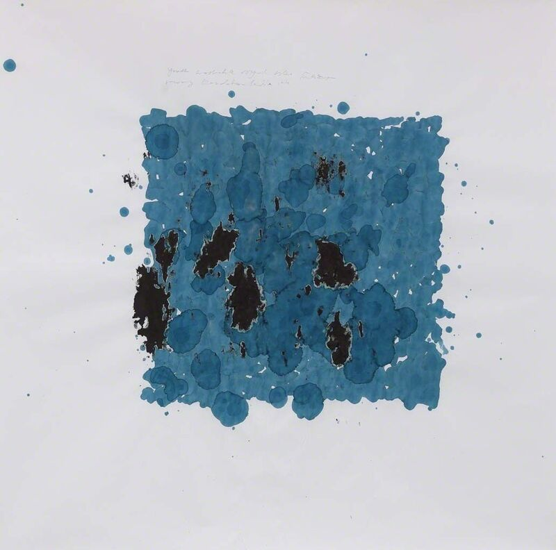 Simryn Gill, 'Ink Studies (Stormy Days)', 2015, Mixed Media, Youth Washable Boyal Blue Ink, 79 x 79cm Rowney Kandahar India Ink and pencil on mahjong paper, Jhaveri Contemporary