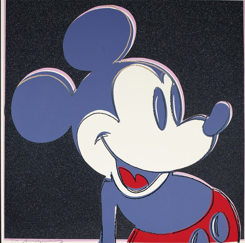 Andy Warhol, 'Mickey Mouse', 1981, Print, Unique screenprint in colors with diamond dust, David Benrimon Fine Art