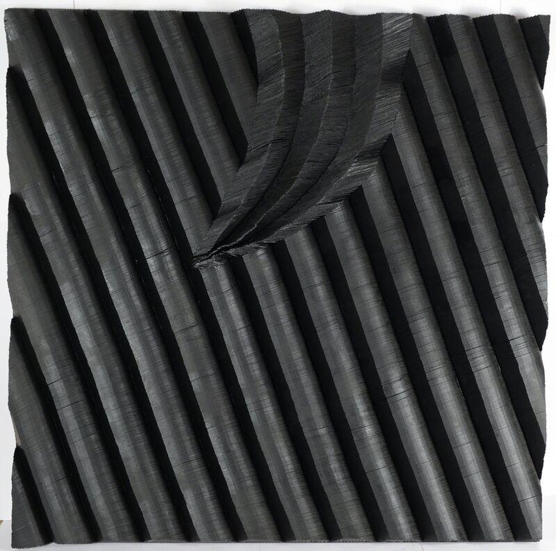 Frédérique Jeantet, 'Rytmique des failles', 2018, Mixed Media, Cardboard, resin, acrylic, Magreen Gallery
