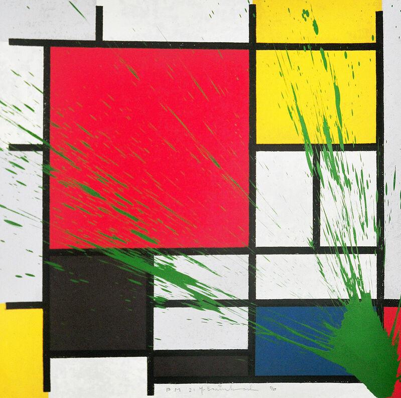 Mr. Brainwash, 'Mondriart (Green)', 2010, Print, Screenprint, Artsy x Tate Ward