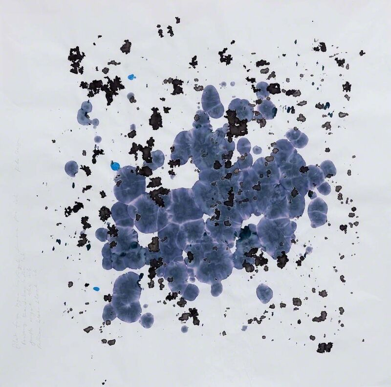 Simryn Gill, 'Ink Studies (Stormy Days)', 2015, Mixed Media, Rowney Kandahar India Ink, Youth Royal Blue, Pilot Fuyu-Syogun Iroshizuku Fountain Pen Ink, Pelican Blue Black Ink and pencil on mahjong paper, Jhaveri Contemporary
