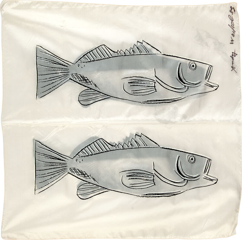 Andy Warhol, 'Fish', 1983, Print, Screenprint in colors, on silk scarf., Phillips