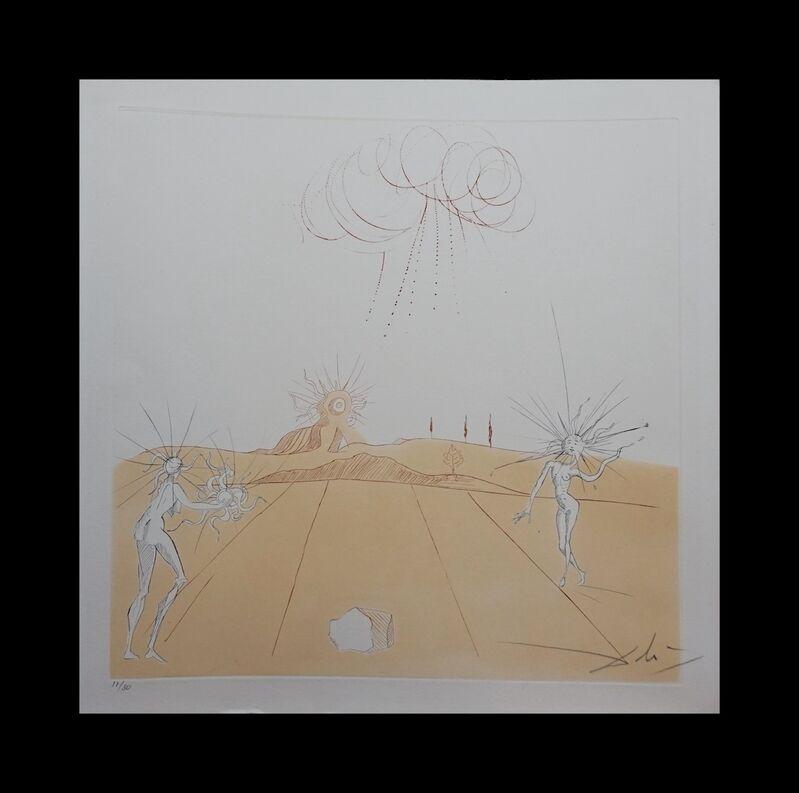 Salvador Dalí, 'Neuf Paysages Paysage avec Figures-Soleil from Sun', 1980, Print, Etching, Fine Art Acquisitions Dali