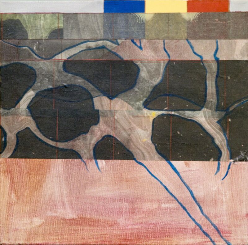 Myrna Burks, 'Pruning', 2015, Mixed Media, Collage and oil on canvas, Carter Burden Gallery