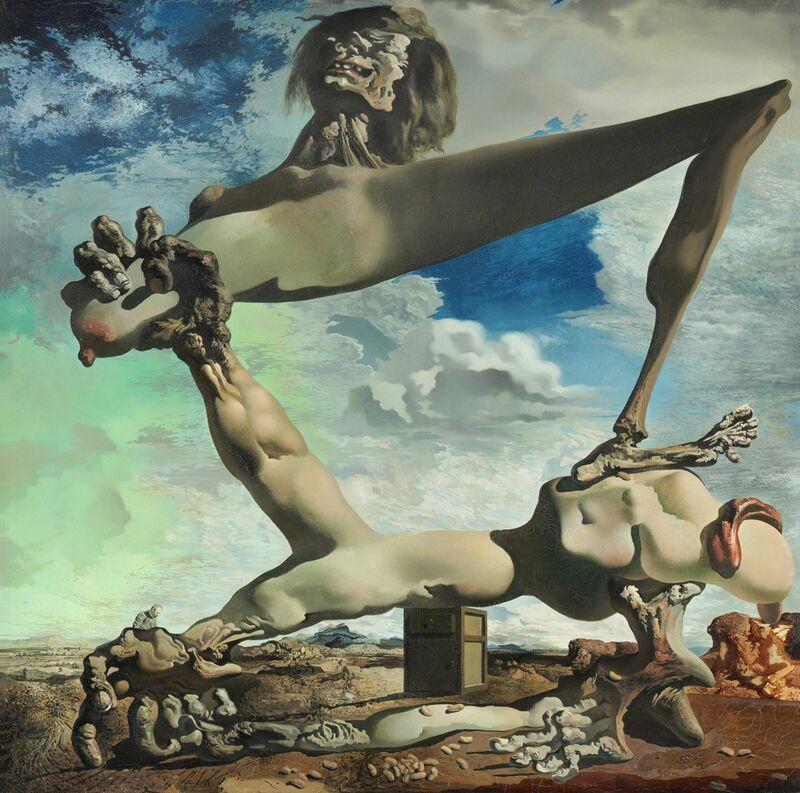 Salvador Dalí, 'Soft Construction with Boiled Beans (Premonition of Civil War)', 1936, Painting, Philadelphia Museum of Art