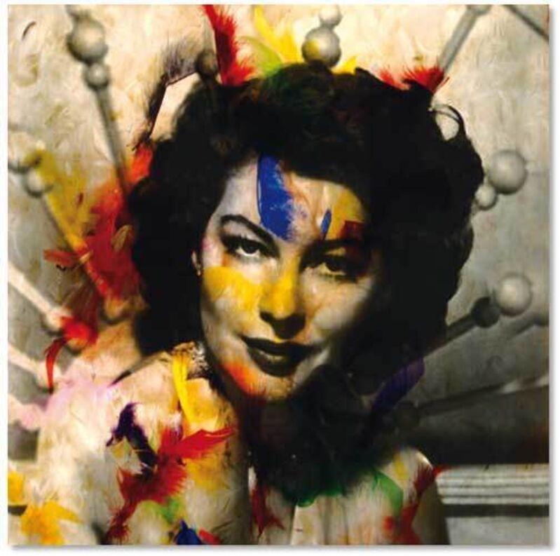 Daniel Gastaud, 'Ava Gardner ', 2010, Mixed Media, Photo, Plumes, Plexiglas, Eden Fine Art