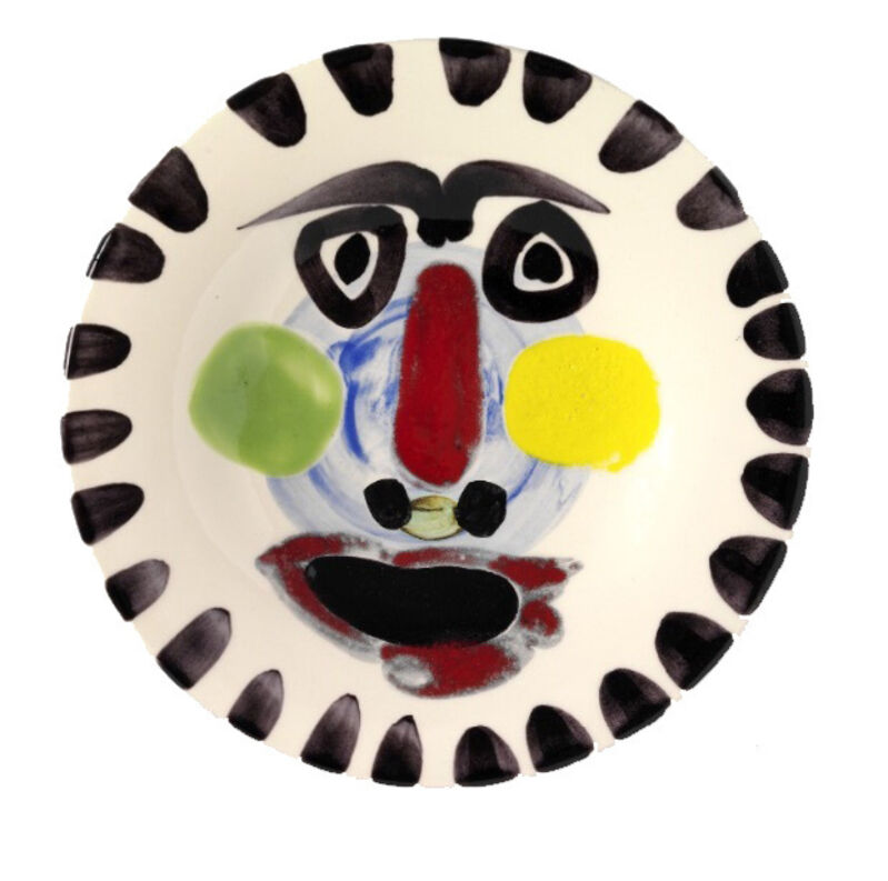 Pablo Picasso, 'Visage n°202 (A.R.495)', 1963, Design/Decorative Art, White faience with decoration, HELENE BAILLY GALLERY