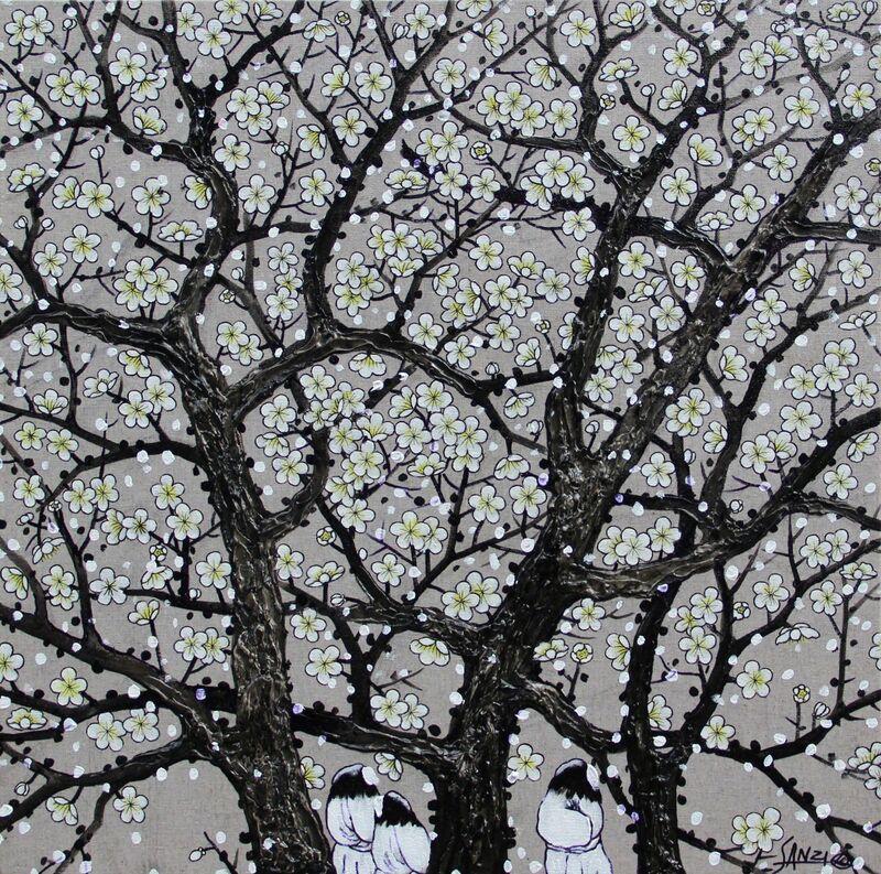 Sanzi, '梅花容 Blossom', 2014, Painting, Oil on Canvas, Art WeMe Contemporary Gallery