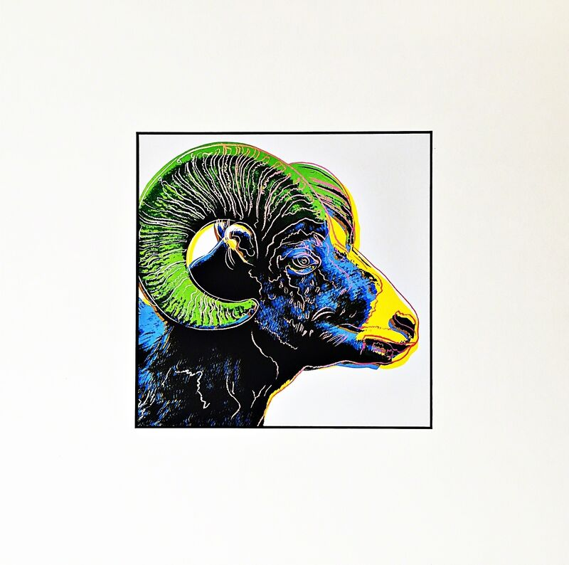 Andy Warhol, 'Bighorn Ram for Art Basel', 1987, Print, Special Limited Edition Color Offset Lithograph for Art Basel, mounted and unframed, Alpha 137 Gallery Gallery Auction