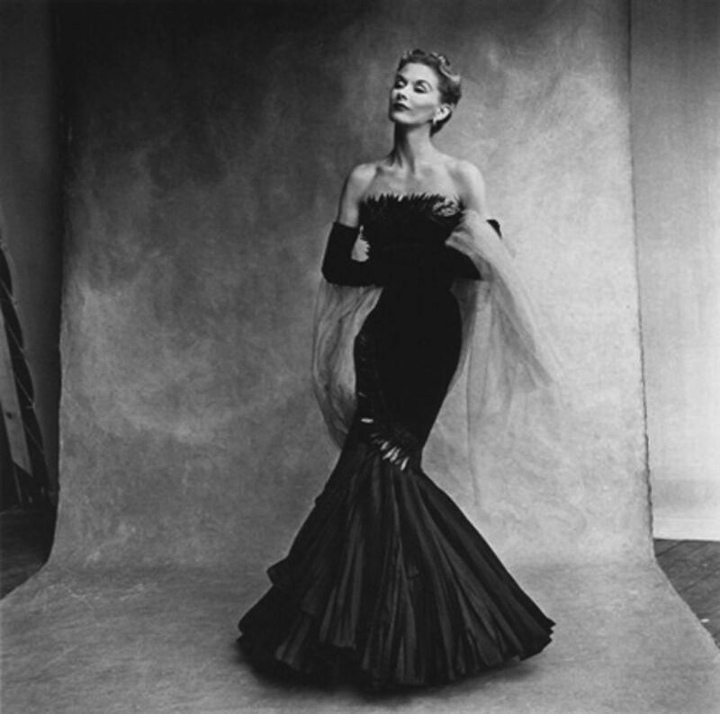 Irving Penn, 'Mermaid Dress: Lisa Fonssagrives in Rochas', 1950, Photography, Platinum Palladium Print, Staley-Wise Gallery