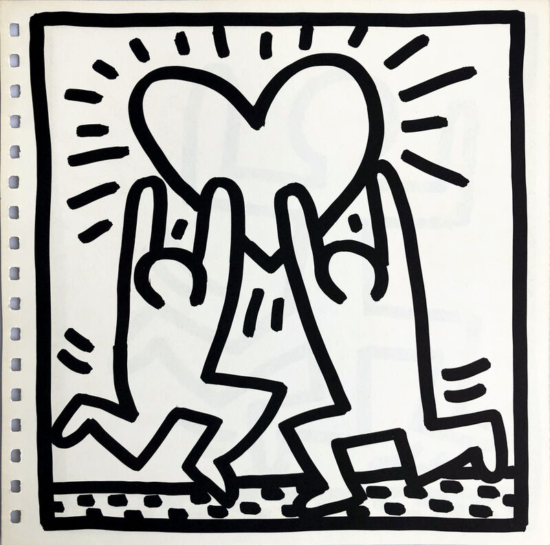 Keith Haring, 'Keith Haring (untitled) Heart lithograph 1982', 1982, Print, Offset lithograph, Lot 180