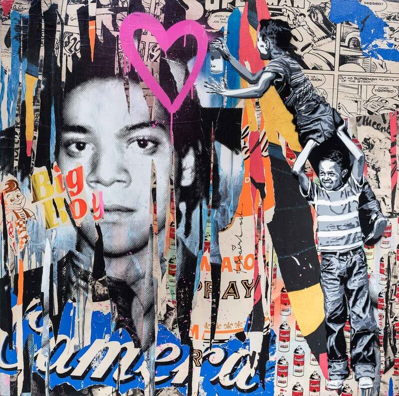 Mr. Brainwash, 'Never Give Up', 2012, Painting, Mixed media on canvas, Eternity Gallery
