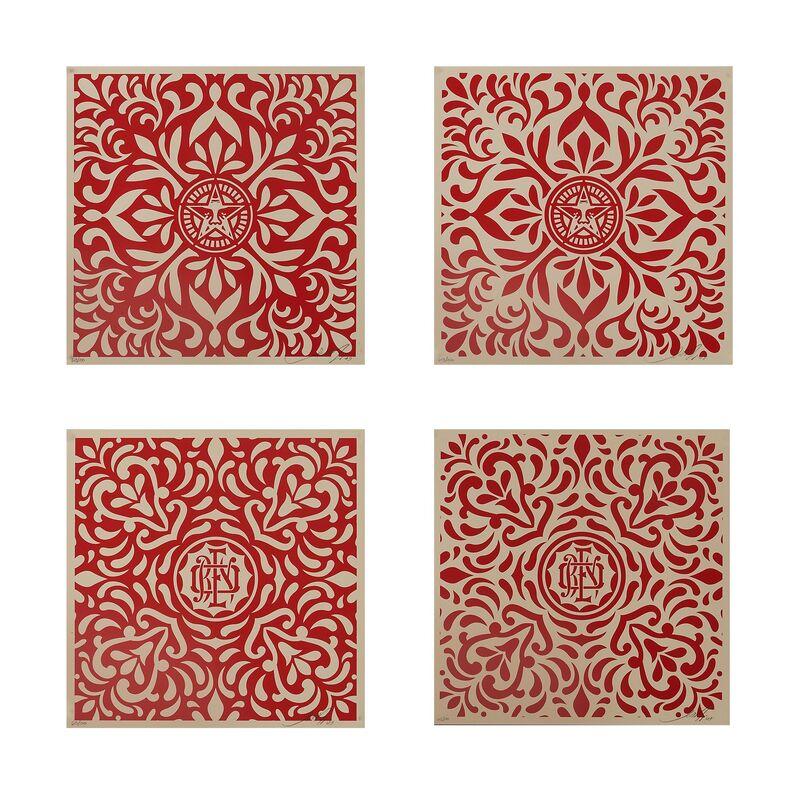 Shepard Fairey, 'Japanese Pattern', 2009, Print, Four screenprints in colors, Rago/Wright/LAMA