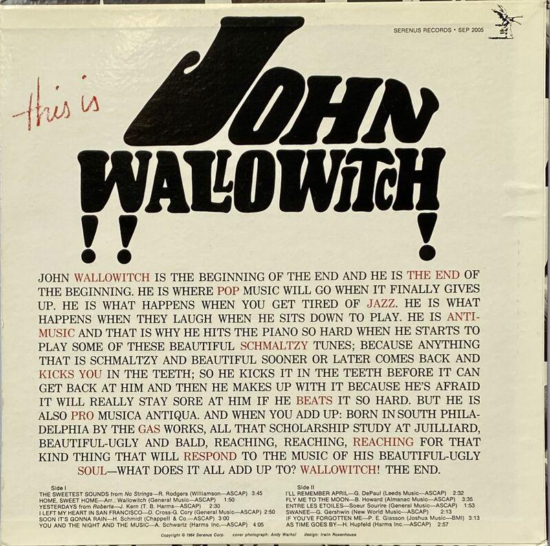 Andy Warhol, 'Rare original Andy Warhol record art', 1964, Design/Decorative Art, Offset lithograph on vinyl album cover, Lot 180