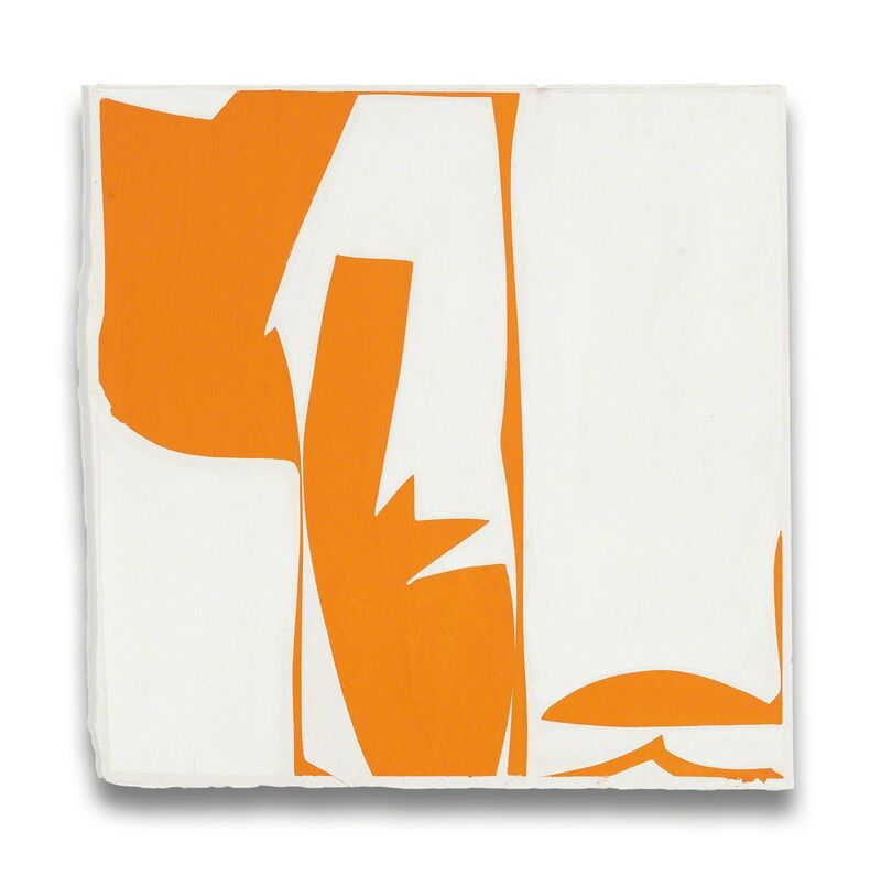 Joanne Freeman, 'Covers 13-Orange (Abstract painting)', 2014, Painting, Gouache on handmade Khadi paper, IdeelArt